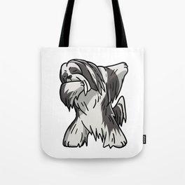 Funny Dabbing Lhasa Apso Dog Dab Dance Tote Bag
