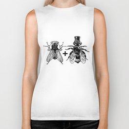 a fly marrying a bumblebee Biker Tank