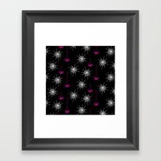 Pink Spiders Framed Art Print