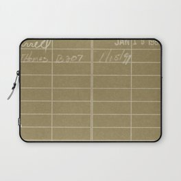 Library Card 797 Negative Brown Laptop Sleeve