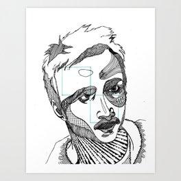 jesse pinkman - breaking bad - abstract Art Print