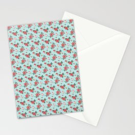 Blue Cupcake Florals Stationery Cards