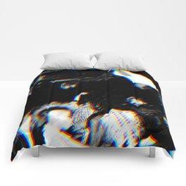 Playboi Carti - Die Lit (Split Color Glitch Effect) Comforters