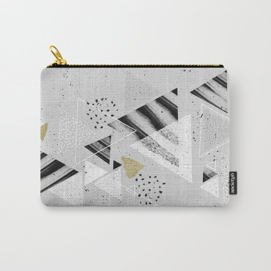 Geometric abstract triangles Carry-All Pouch