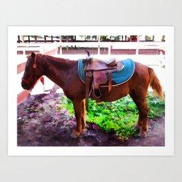 Saddle on Horseback 2 Art Print