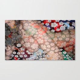 Flower Swirl Girl  Canvas Print