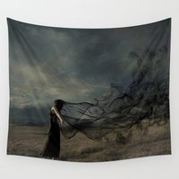 wind Wall Tapestries featuring wind by Pavlo Tereshin