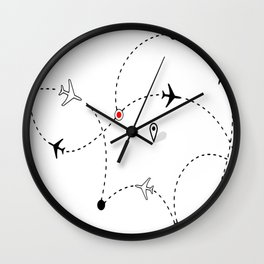 Flight Airplane Wall Clock