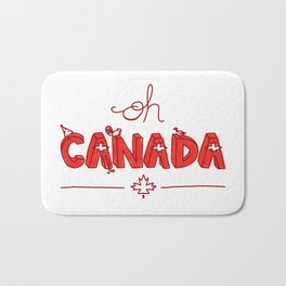 Oh Canada Day (Handlettered) Bath Mat