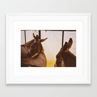 ass Framed Art Prints featuring Ass by meredith cohen
