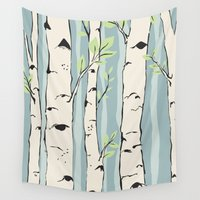 birch Wall Tapestries featuring Birch by Marlene Pixley