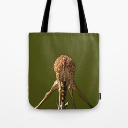 Downward Giraffe Tote Bag