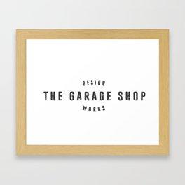 The Garage Shop Framed Art Print