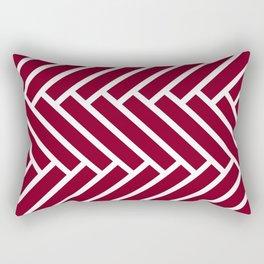 Dark red and white herringbone pattern Rectangular Pillow