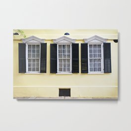 Sunny Charleston Windows Metal Print
