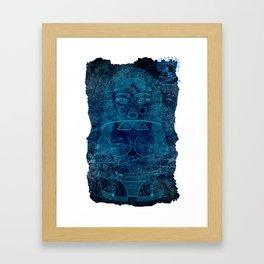 Blueprint X (background) Matryoshka / Nesting Doll Framed Art Print