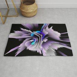 3d flower lilac blue Rug