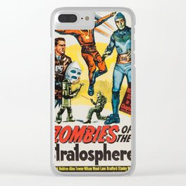 Vintage poster - Zombies of the Stratosphere Clear iPhone Case