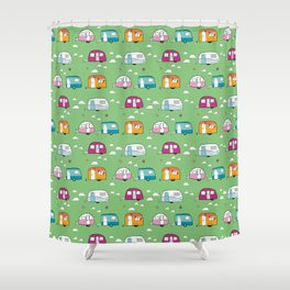 Happy Campers version 2 Shower Curtain