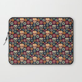 Day Of The Dead Pattern | Dia De Los Muertos Skull Laptop Sleeve