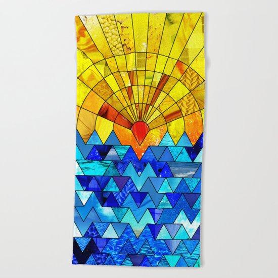 Sun & Sea Collage Beach Towel