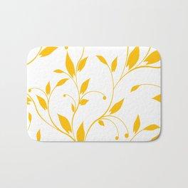 FLOWERY VINES | white yellow Bath Mat