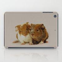 pigs iPad Cases featuring Guinea pigs by Guna Andersone & Mario Raats - G&M Studi