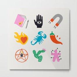 Scorpio Emoji Metal Print