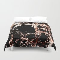 coke Duvet Covers featuring Coke a cola Splash by Karl Wilson Photography