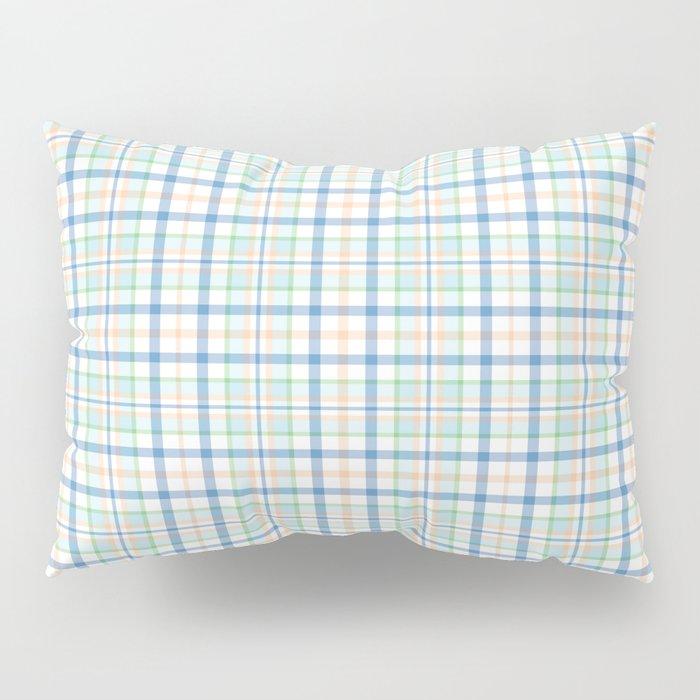 Blue Plaid Easter Bunny Pillow Sham