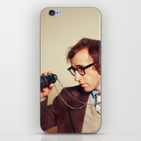 woody allen iPhone & iPod Skins featuring WOODY ALLEN by VAGABOND