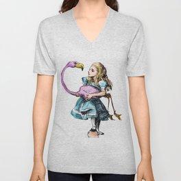 Alice Plays Croquet Unisex V-Neck