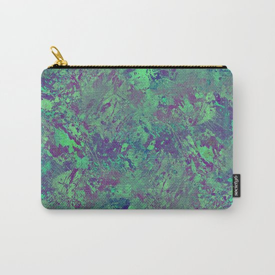 Cool And Calm - Abstract blue and purple painting, icy, chilled out, calming, relaxing artwork Carry-All Pouch