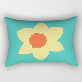 Daffodil Head Rectangular Pillow