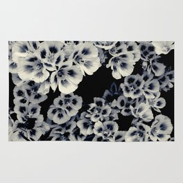 Black And White Flowers by Lika Ramati Rug