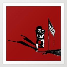 #americananthems #colin #kaepernick #blacklivesmatter #truefreedommatters #waterhummingbirdhouse Art Print