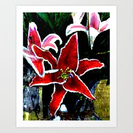 Tiger Lily jGibney The MUSEUM Society6 Gifts Art Print