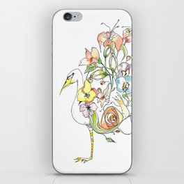 Bird of Flowers iPhone Skin