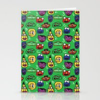 sesame street Stationery Cards featuring Sesame Street Pattern by MOONGUTS (Kyle Coughlin)