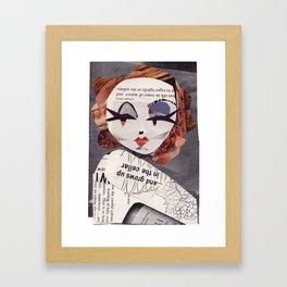 Marlene Dietrich #PrideMonth Collage Portrait Framed Art Print
