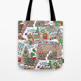 Gingerbread Village Tote Bag
