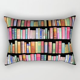 Christmas Antique Book Library for Bibliophile.bookworm, book lover, library, teachers , students, Rectangular Pillow