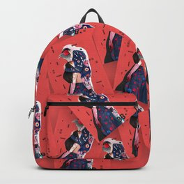 """""""LOVE"""" (Turn your head to the sky, we're burning in the heat below) Backpack"""