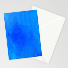 DARK BLUE WATERCOLOR BACKGROUND  Stationery Cards