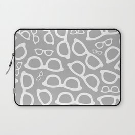 Smart Glasses Pattern - Grey Laptop Sleeve