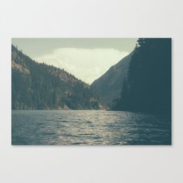 The darkness of Diablo Lake Canvas Print