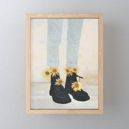 My Boots Framed Mini Art Print