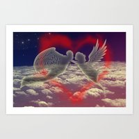 angels Art Prints featuring angels by JanUFotO
