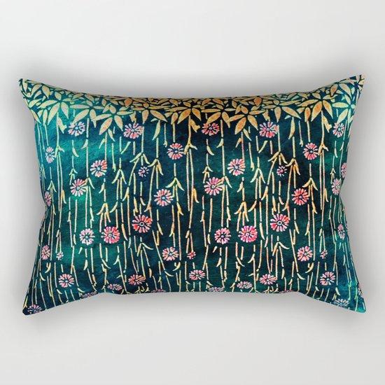Flower Shower 2 Rectangular Pillow