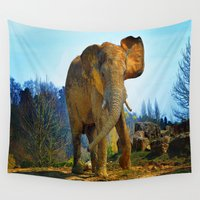 grumpy Wall Tapestries featuring Senor Grumpy by Robin Curtiss